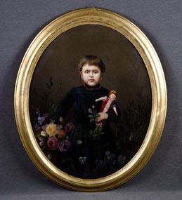 Maler des 19./20. JH.: Mädchen mit Puppe