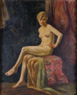 R. Weber (Maler des 20. Jhs.). Frauenakt.