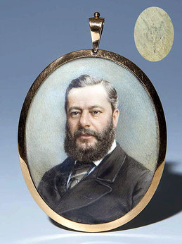 Miniaturist des 19. JH., Herrenporträt