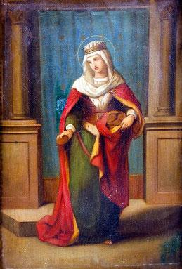 Maler des 19. Jhs. Heiligenporträt.
