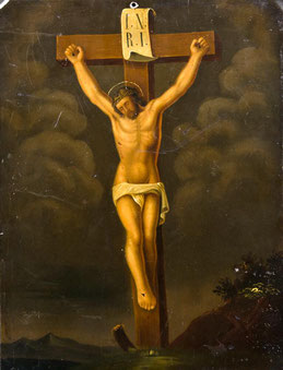 17/001 Maler des 18. JH., Christus am Kreuz.