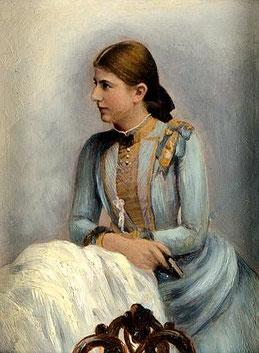 Maler des 19. JH., Porträt einer sitzenden Frau