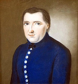 """Maler des 19. Jahrhunderts: """"Brustbild eines Herrn in Uniform"""""""