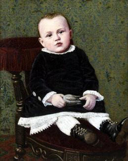 """Maler des 19. JH.: """"Knabenporträt"""""""