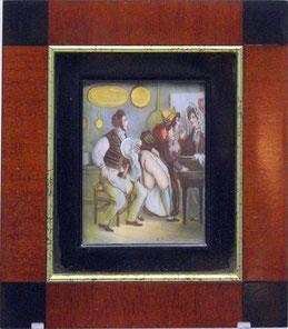 Miniaturist des 19./20. JH.: Frivole Darstellung.