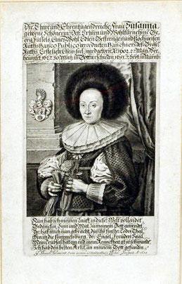 Portrait : Susanne, geborene Schönerin Dek Sinnspruch