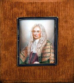 Miniaturist des 19. Jhs. Herrenporträt.