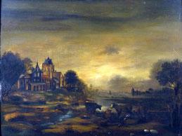 """Maler des 19. Jahrhunderts """"Landschaft mit Vieh"""""""