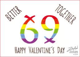 Valentinstagsgrüße, Valentinstag, Valentinstagskarte