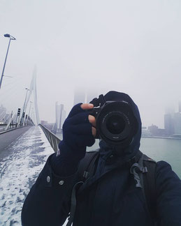 fotografie, urban, erasmusbrug, architectuur, architecture, rotterdam, zuid, skyline, sneeuw, photography, midi010