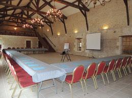 Salle de réception pour mariage et séminaire au Domaine du Bois Saint Laurent de la Prée Prés de Fouras entre Rochefort et La Rochelle