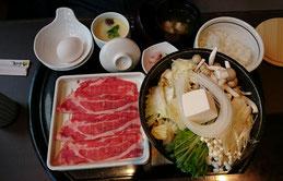 牛すき焼き膳1280円(税抜)