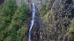 Levada do Risco, Risco waterfall, Risco Wasserfall
