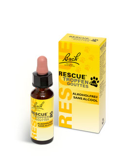 Rescue Pets 10 ml alkoholfrei für Tiere Original Bach Blütenmischung Rescue Notfallmittel