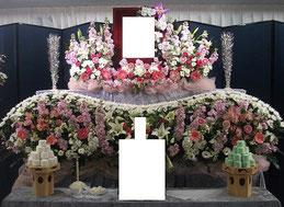 家族葬生花祭壇