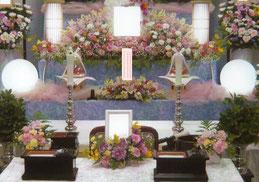 一日葬 生花祭壇