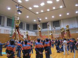 加賀鳶梯子のぼり練習会 火の見