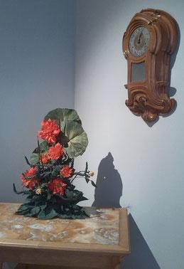 Création florale pour exposition
