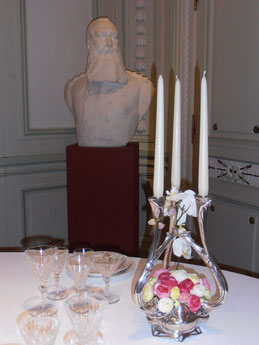 Décoration florale pour exposition