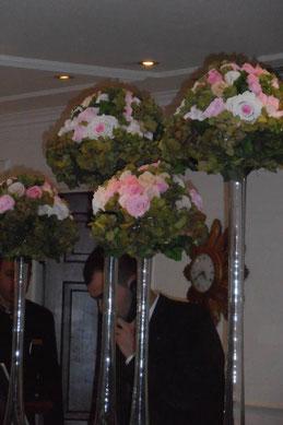 Décoration florale pour hall d'hôtel