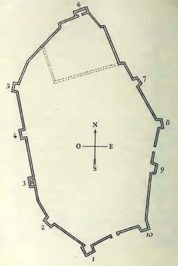 Ksar Tifech (Tipasa de Numidie) : Plan de la citadelle byzantine