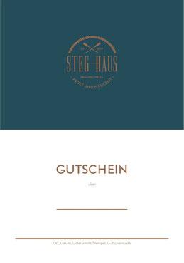 Gutschein für das Restaurant StegHaus in Braunschweig - Variante 1