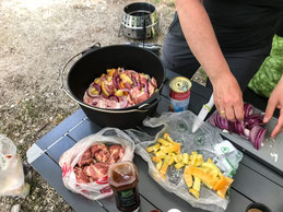 Schichtfleisch vorbereiten