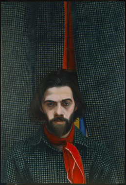 francois beaudry egg tempera painting portrait richard gingras chercheur de tresors series 2