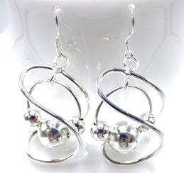 boucles d'oreilles femme en argent plaqué