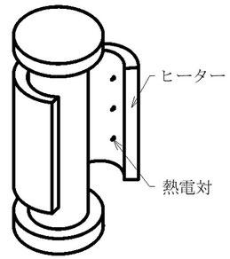 ガラスチャンバーををヒーターで200℃まで加熱する装置です。