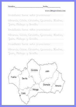 caligrafía comunidad andaluza