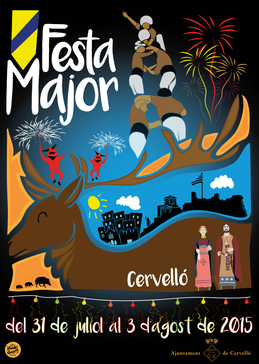 Festa Major de Cervelló 2015 Cartel y programa