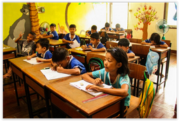 Children in the classroom of Learning Center