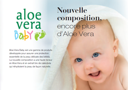 La nouvelle composition a une haute teneur en Aloe Vera et en extrait bio de calendula qui réhydratent la peau de façon naturelle.