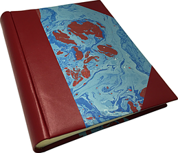photo album leather marbled paper conti borbone