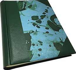 Phot album leather marbled paper conti borbone