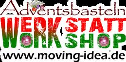 Adventsbastelkurse für Erwachsene und Kinder bei moving idea