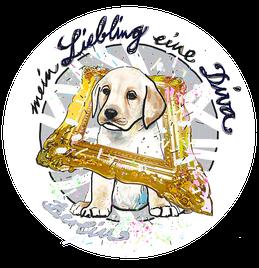 süßer Welpe, Hund, Liebling, eine Diva, Bild, Portrait, Zeichnung, toll, schön
