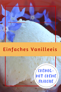 Einfaches #Vanilleeis - cremig #thermomixrezepte #eis #orgaBine