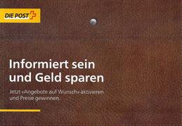 Aufwändige Werbung der Post im Dienste von Grossisten. Was hat dies mit dem Leistungsauftrag zu tun?