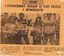 Avec Denis Thurin en 1974