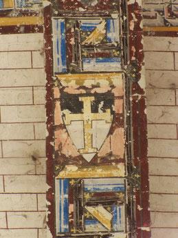 de la chapelle de la commanderie d'Auzon - Montrant l'écu utilisé par le grand maître Armand de Périgord