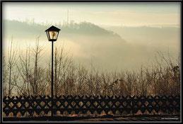 Laterne, Morgenstimmung, Gewinnerbild