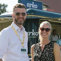 arko Geschäftsführer Patrick G. Weber und arko-Marketingchefin Susanne Bodmann beim Useom Cross Country. Foto: EAE-Jana Lyons