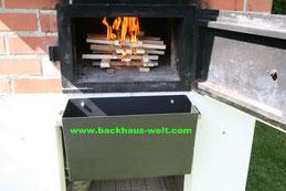 Ascheklappe Aschekasten für Gewölbeöfen Pizzaofen Holzbackofen