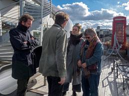 Francois Sarti (links) und Myriam Lefkowitz (2.v.r)