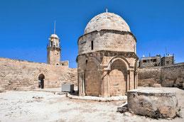 La chapelle de l'Ascension sur le Mont des Oliviers (Jérusalem).