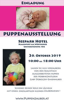 puppenausstellung, klagenfurt, seepark hotel, puppen wie echt, oktober 2019, gaby doboczky