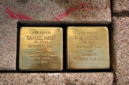 Stolpersteine für Samuel und Frieda Maier
