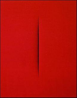 Lucio Fontana - Concetto spaziale, Attesa, 1965
